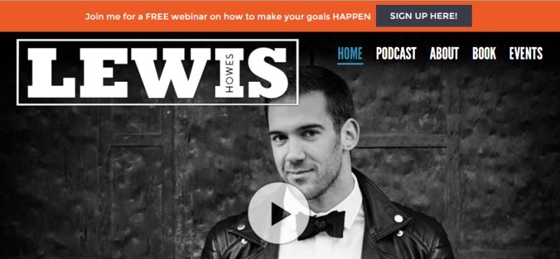Lewis Howes Webinar top bar