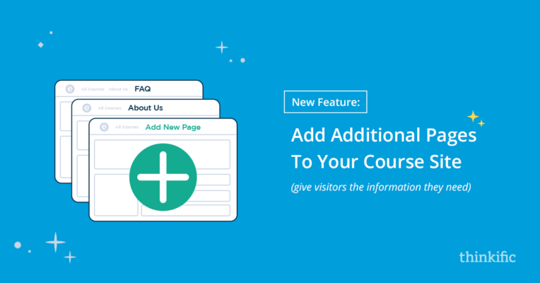 Add additional pages to your online school