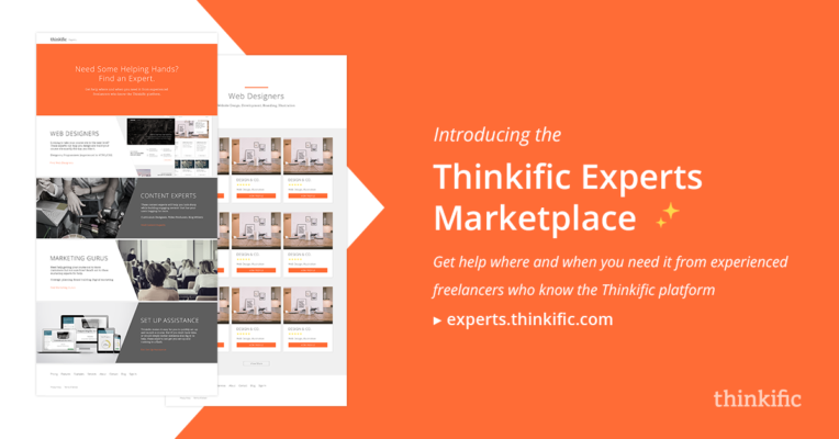 Thinkific Experts Marketplace Announcement