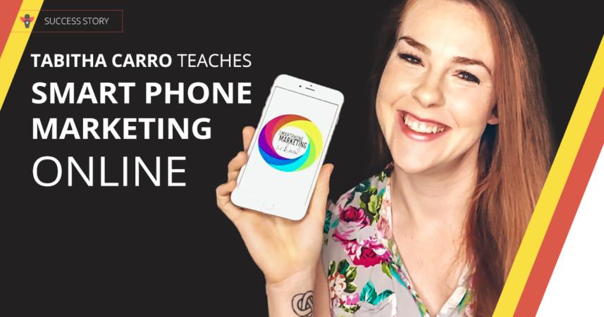 Tabitha Carro teaches smart phone marketing | Thinkific success story