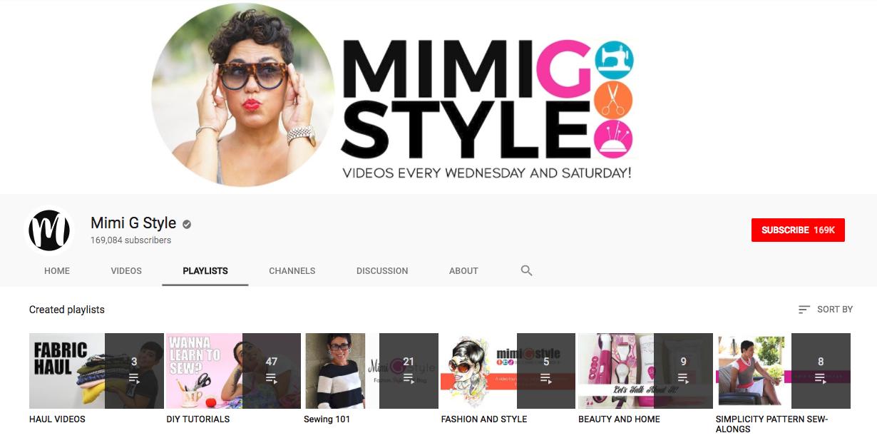 Mimi G YouTube Playlists