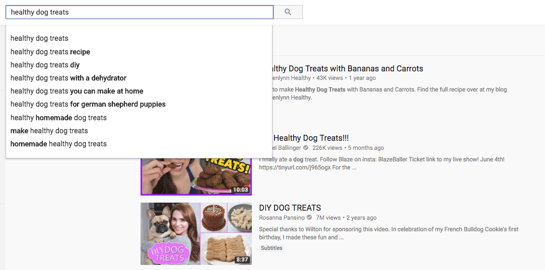 YouTube Search Term Results
