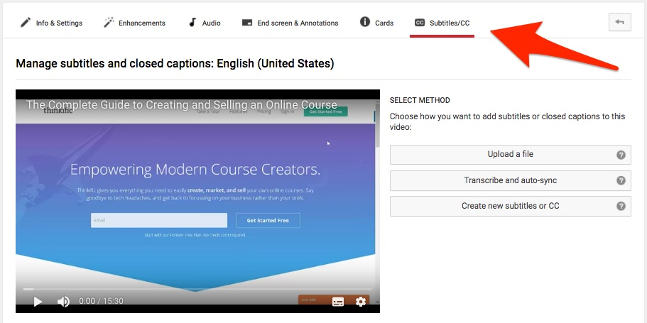 YouTube Video Subtitles Closed Captions