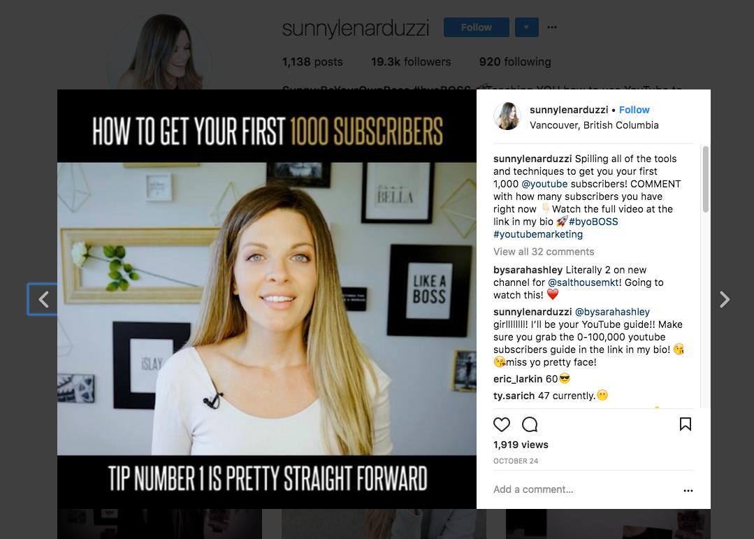 YouTube Video Teaser on Instagram