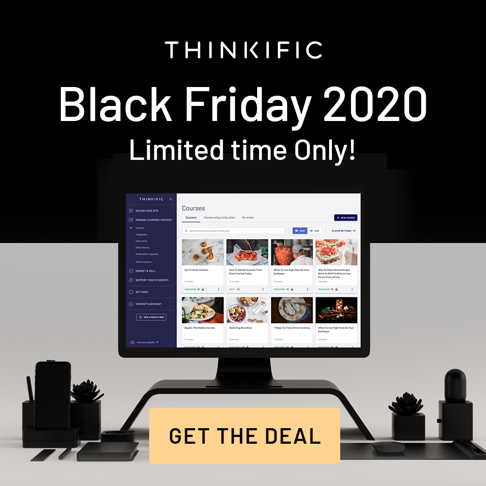 Thinkific Black Friday Offer 2020
