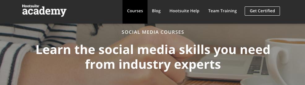 HootSuite Academy Social Media Courses