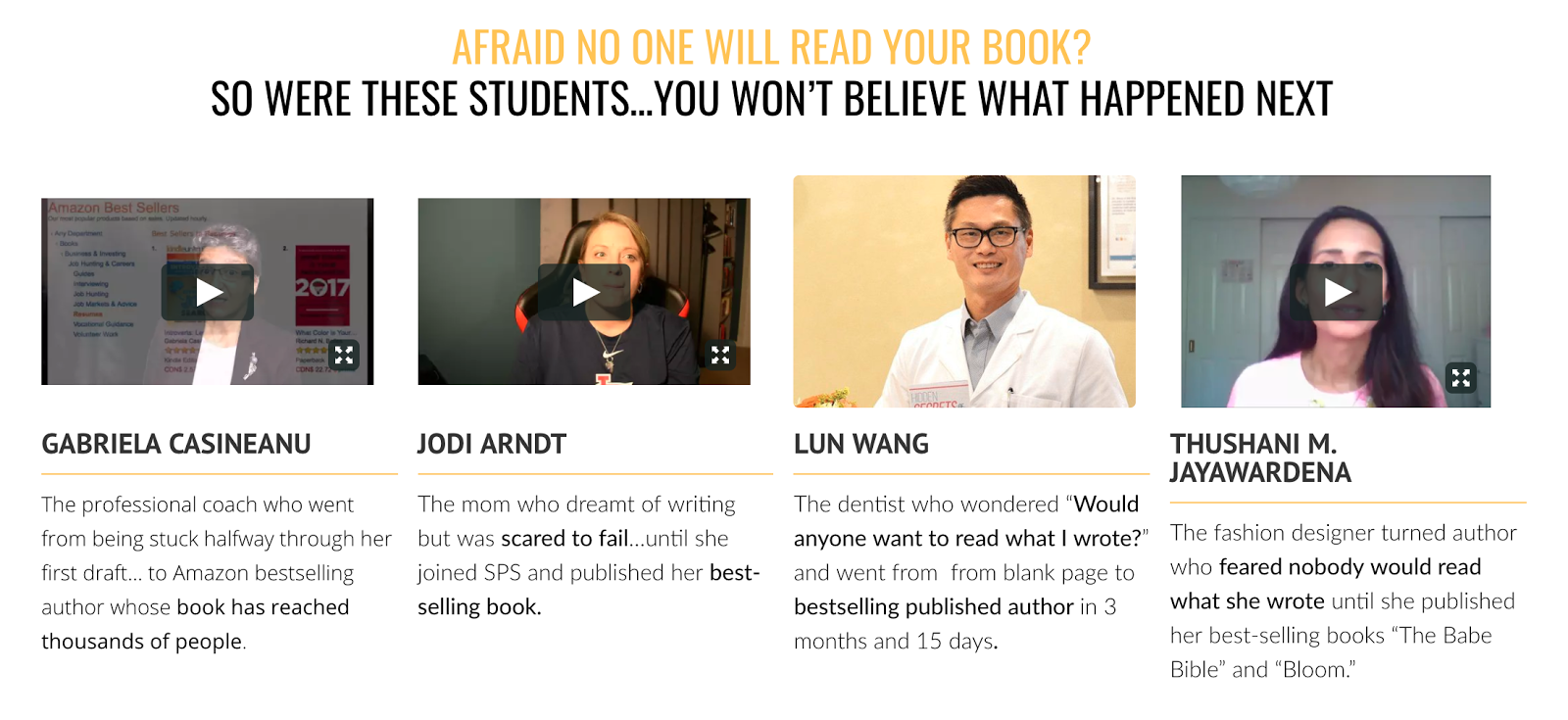 Self Publishing School Success Stories