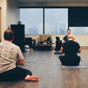 Yoga at Thinkific HQ