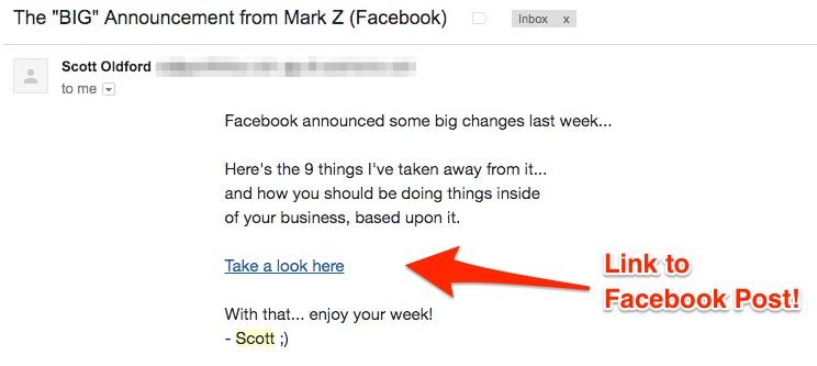 Scott Oldford Facebook Announcement Response