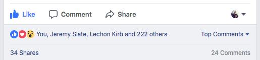 Scott Oldford Facebook Post Engagement