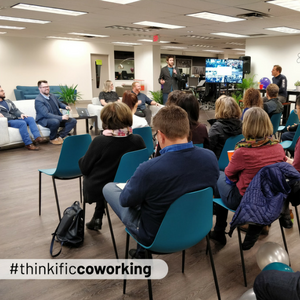 Coworking Event at Thinkific HQ