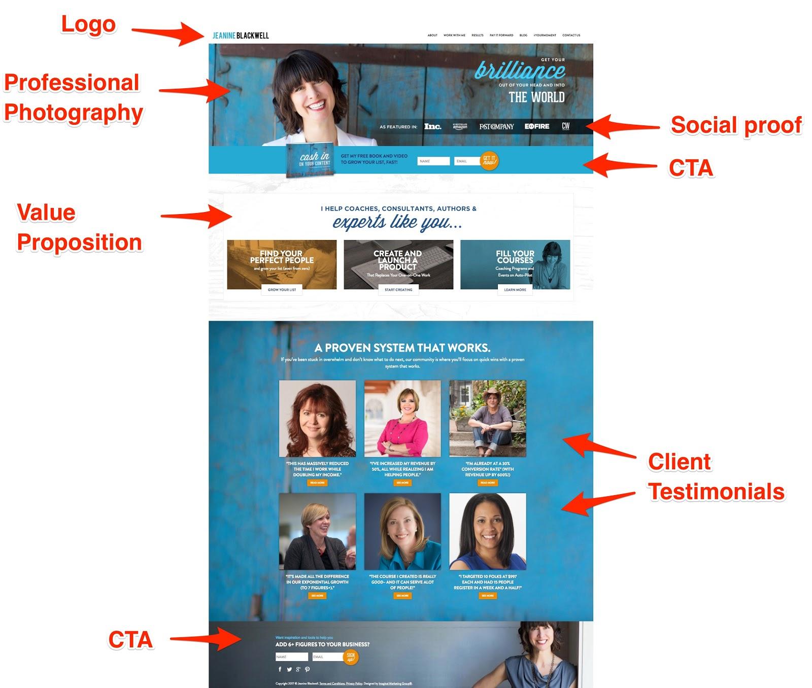 Personal Brand Website Homepage