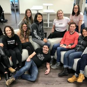 The Thinkific Team Celebrating International Women's Day