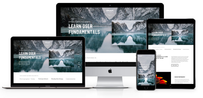 Site Builder Theme on multiple devices and display types | Create and sell online courses | Thinkific online course platform