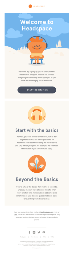 Headspace Welcome Email 10