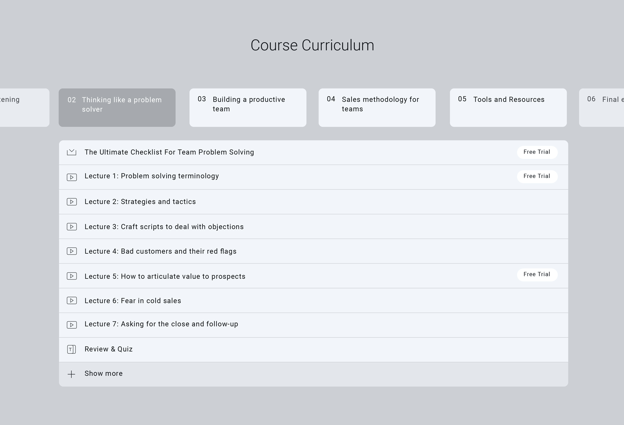 Thinkific build online course curriculum