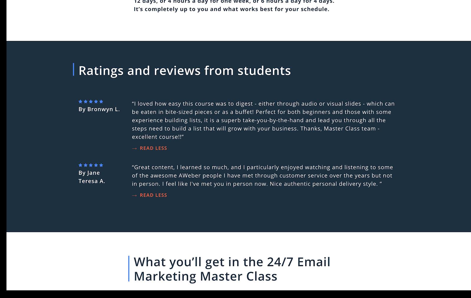 AWeber online course