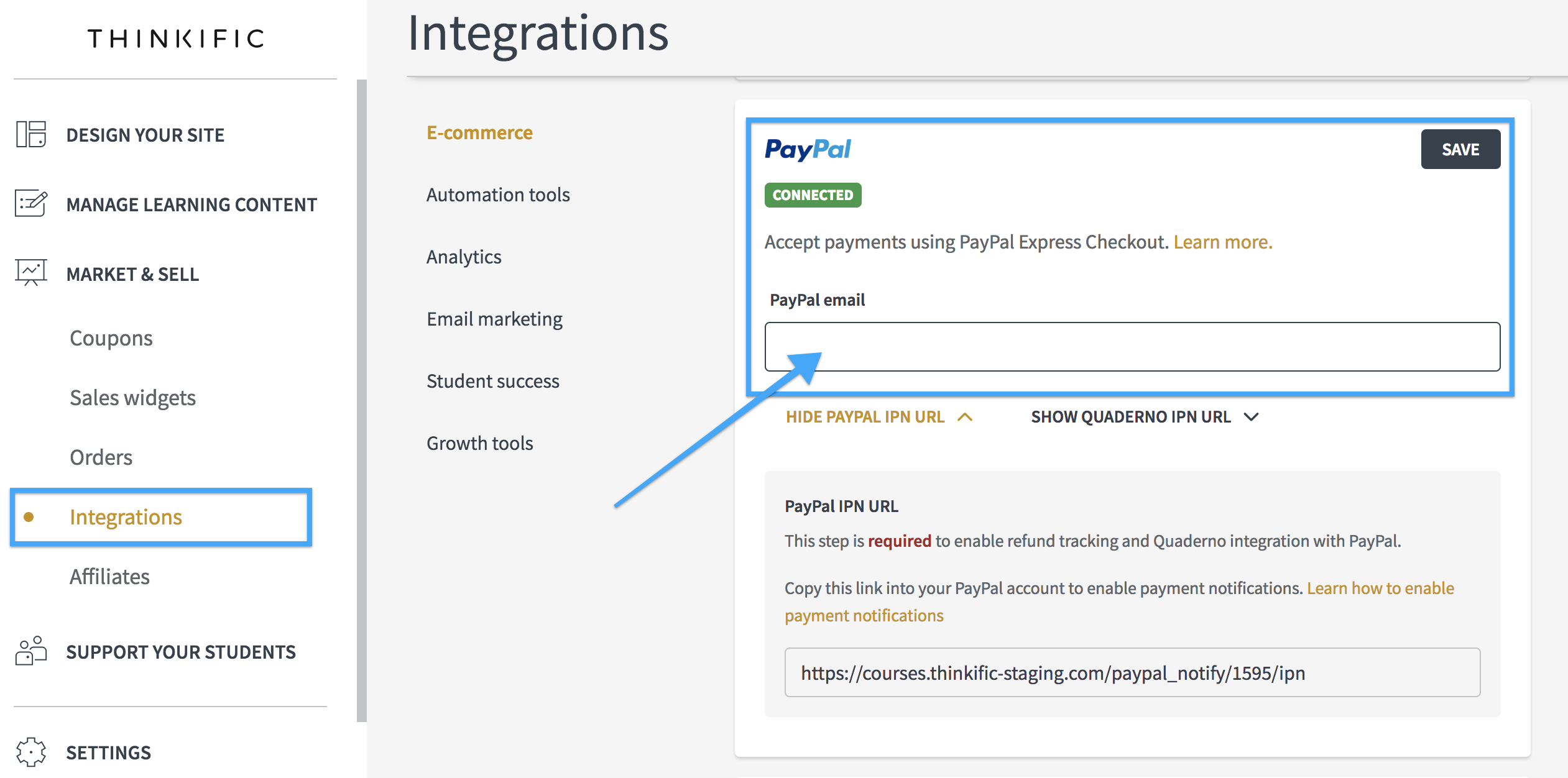 paypal-thinkific