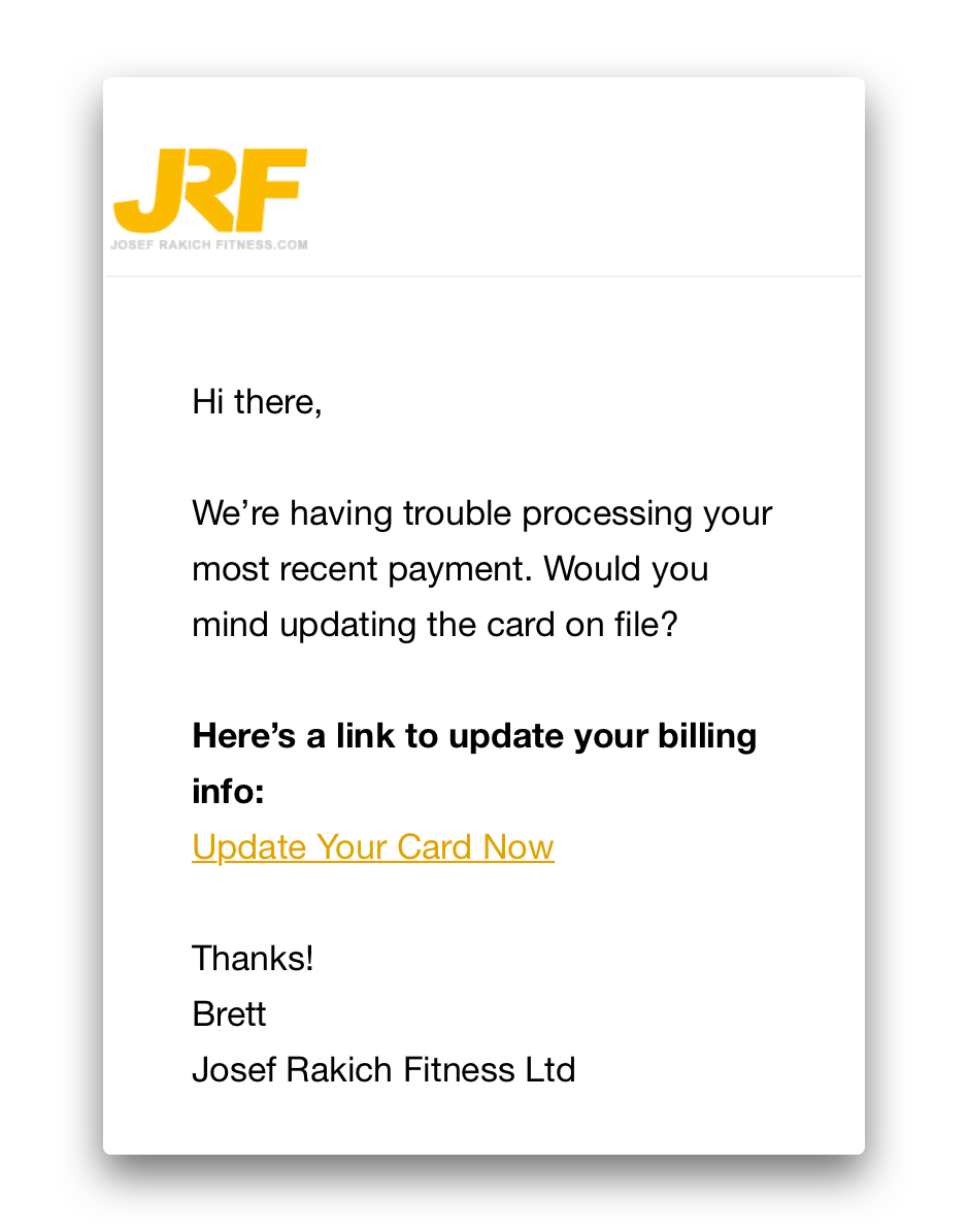 Transactional-email-example-JRF-Fitness