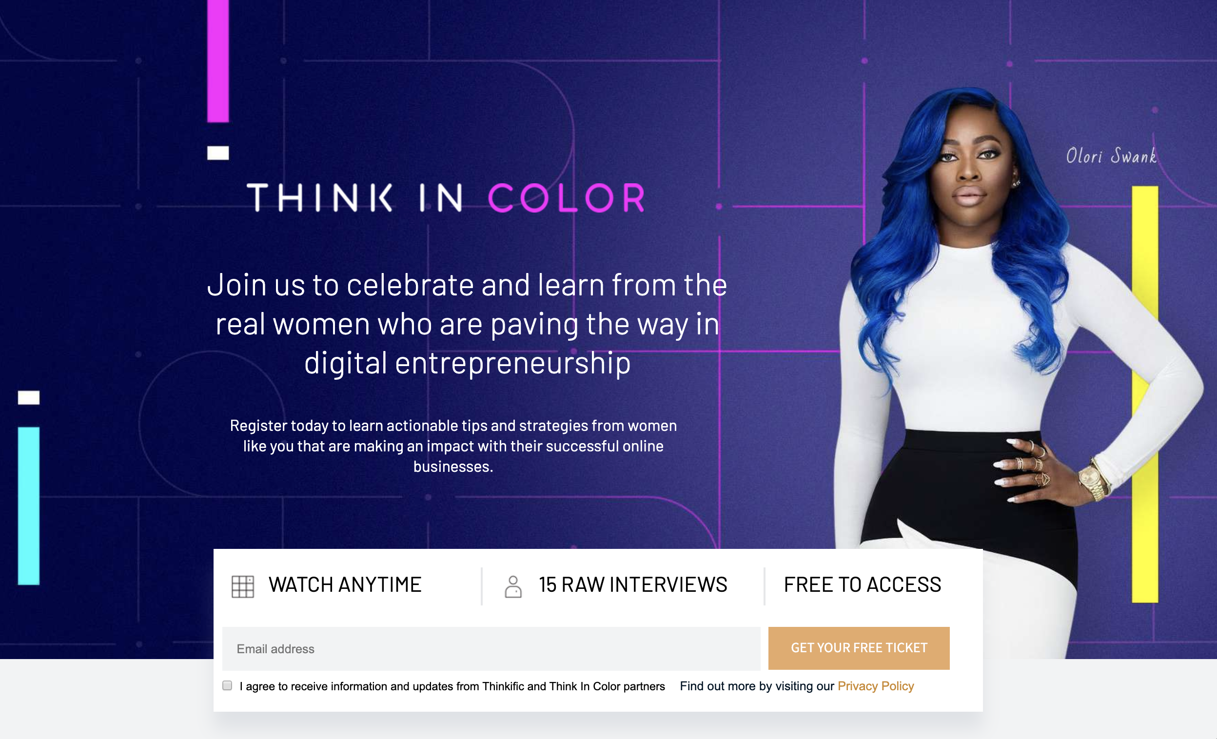 Think in Color virtual event example