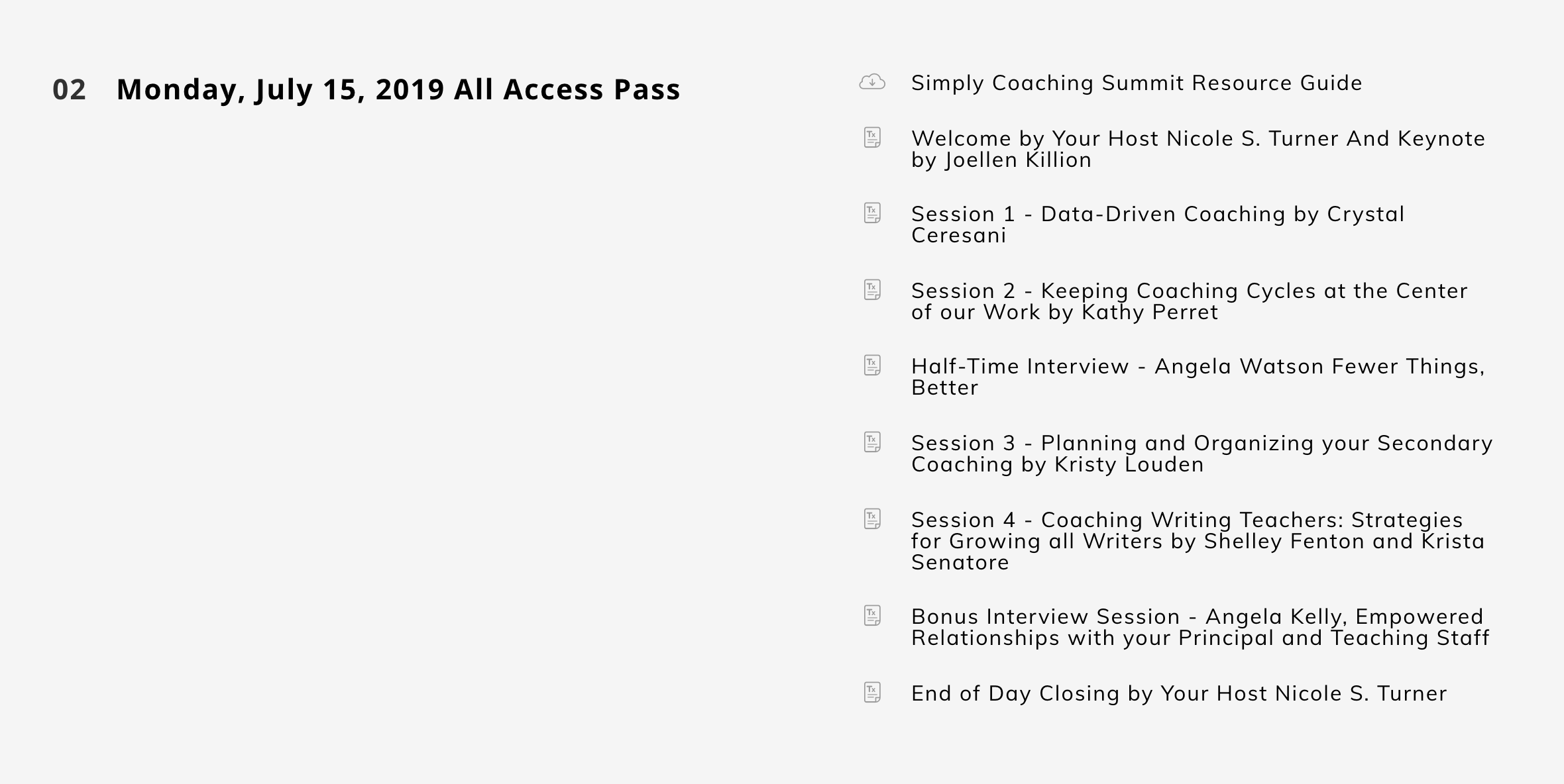 virtual event example simply coaching summit