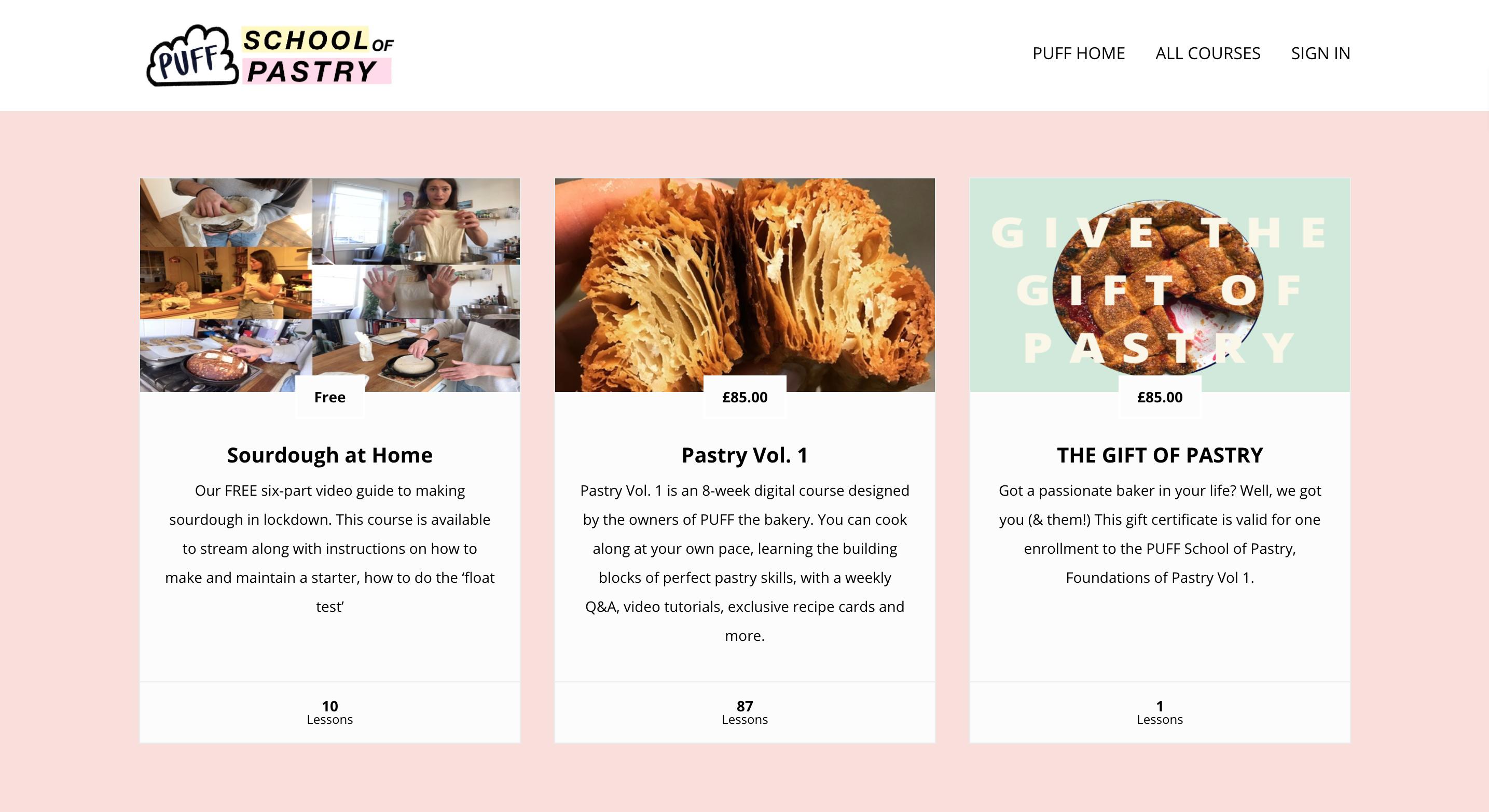 PUFF School of Pastry