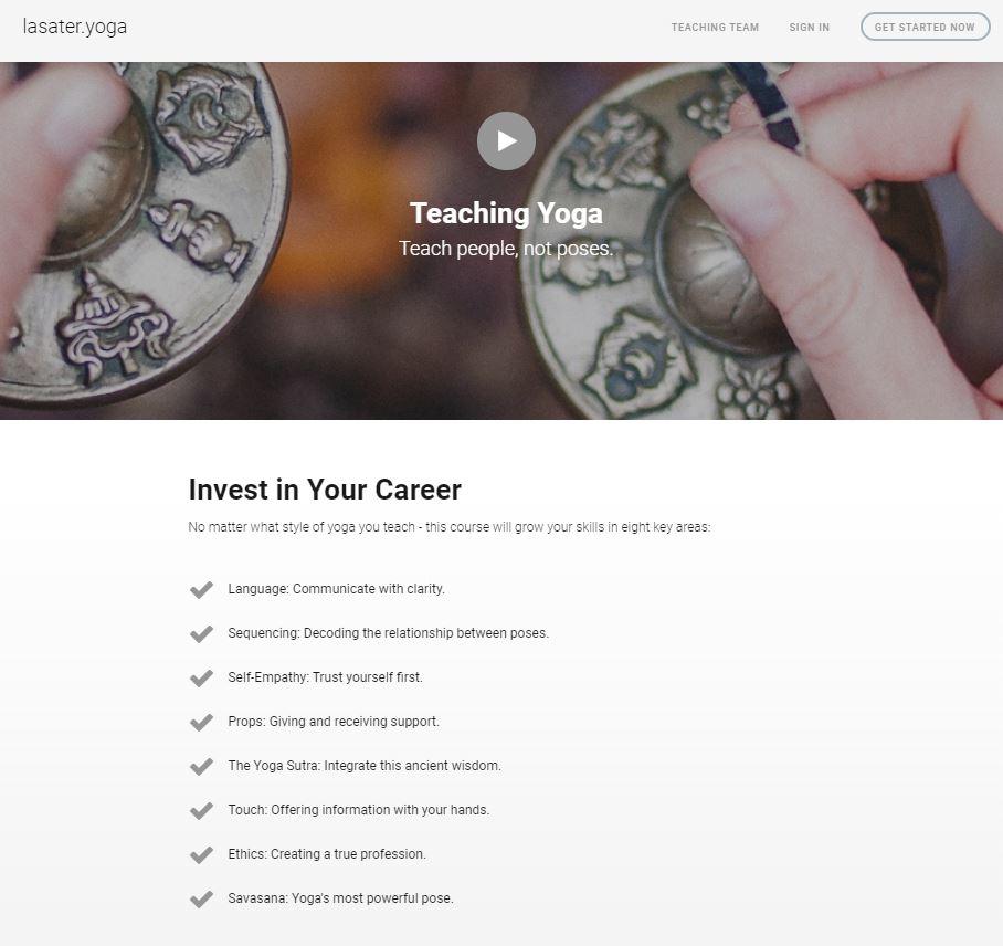 Lasater Yoga Teacher Training learning objectives