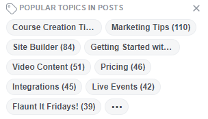 Example tags in facebook group