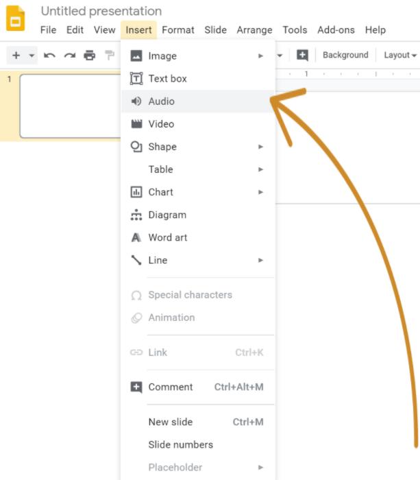 Voice-over google slides, upload audio to slide