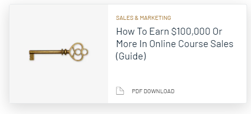 A Guide To Earning $100,000 In Online Course Sales