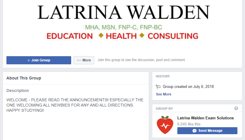 Example of Facebook Group Linked to Business Page