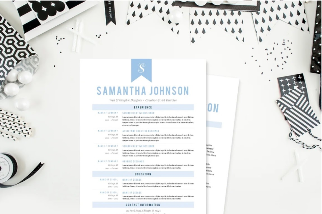 A screenshot of the resume templates being sold as an example of template digital products you can sell.