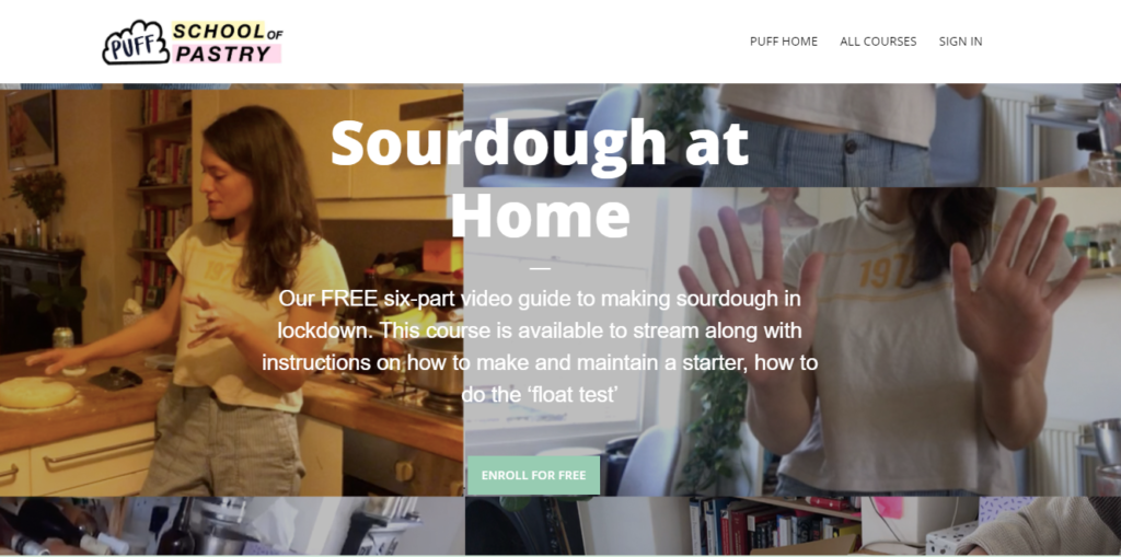 Sourdough is another example of an online course you can sell based on an everyday skill you might have.