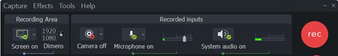 Camtasia Screen Recording Bar