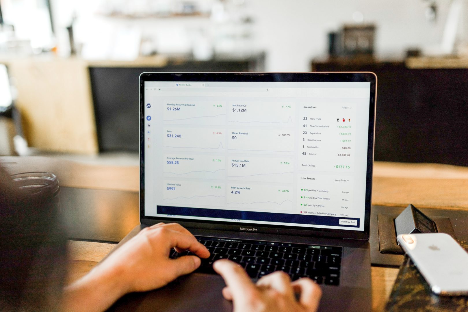 Computer screen with revenue reporting - revenue you could be making if you monetized your content