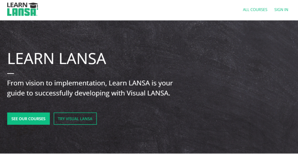 A screenshot example of Lansa's customer education LMS built on Thinkific