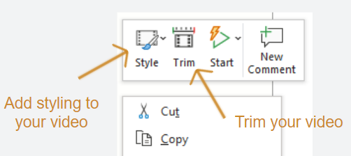 Powerpoint screen recording options