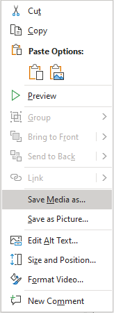 Saving your screen recording from a powerpoint slide