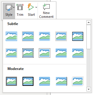 Powerpoint Screen Recording Style Options