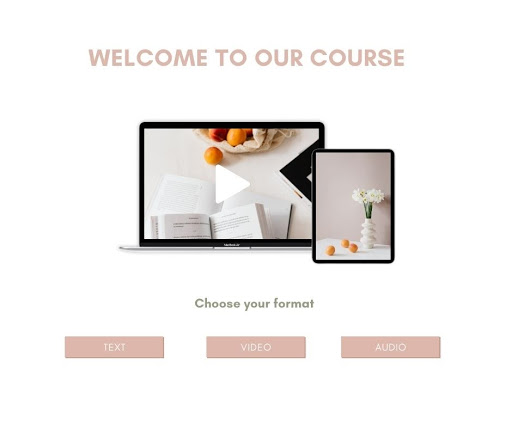Example of a course offered in multiple formats