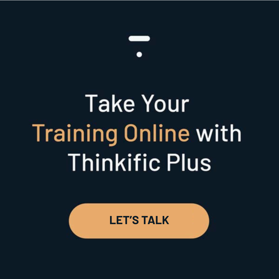 Take your training online with Thinkific