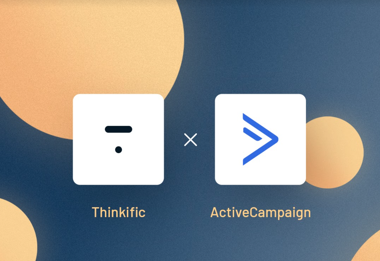 Thinkific and ActiveCampaign Logos