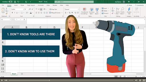 Miss Excel Training Video Example