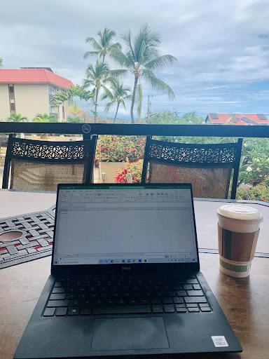 Norton working from Hawaii.