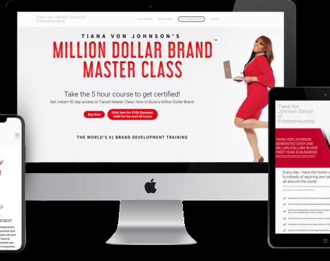 Portfolio sample featuring Tiana Von Jonshon's Million Dollar Brand Masterclass