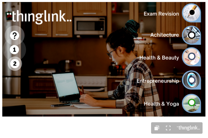 Example Interactive Course With Thinglink